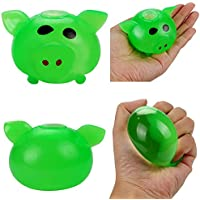 Squeezeおもちゃ1pcグリーンanti-stress Splat Bal Pigl Vent Toy SmashさまざまなスタイルPigおもちゃDelightful応力Reliever Toys