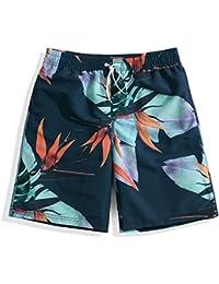 マルチサイズ 緩い快適な男性の泳ぐトランク 軽量速乾性のビーチパンツ 夏の水着 (サイズ : S)