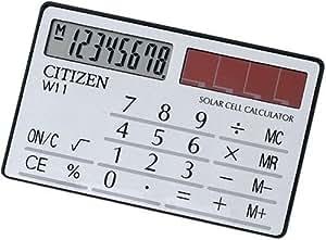 シチズン 手帳サイズ電卓(8桁表示) W11-S