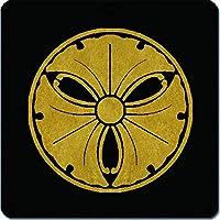 家紋 マウスパッド 糸輪に三つ蔓銀杏紋 15cm x 15cm KM15-1754
