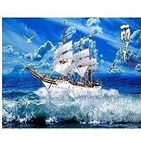Mrlwy 荒れ狂うウィンドサーフィンテレビの背景の装飾的な絵画壁画のカスタム3d壁紙new wave-150X120CM