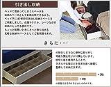 日本製 照明付き フラップ扉 引出し収納付きベッド A333 catty 宮付き チェストベッド (セミダブル ボンネル&ポケットコイルマットレス付き, ブラック)