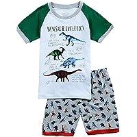 Babyfashion 子供服 ボーイズ 半袖 パジャマ ルームウェア 恐竜柄 寝間着 上下セット 幼児服 キッズ服