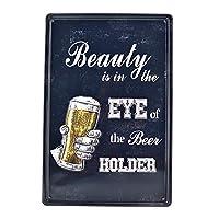 ビールホルダーポスタービンテージティンサイン