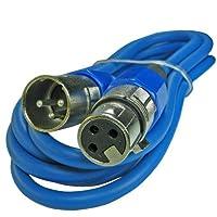 XLRオスtoメス3ピンマイクマイクlo-z拡張子ケーブルコードカスタム色 15ft ブルー 170-BLXLR-15