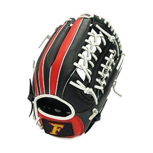 サクライ貿易(SAKURAI) FALCON ファルコン 野球グラブ グローブ 軟式一般 オールラウンド用 Lサイズ ブラック×ホワイト FG-6510