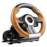 SPEEDLINK Drift O.Z. PC Gaming Racing Wheel, Black/Orange (SL-6695-BKOR-01)