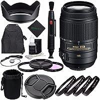 Nikon af-s DX Nikkor 55–300mm f / 4.5–5.6G ED VRレンズ?+ 58mm 3PieceフィルタセットUV、CPL、FL ) +レンズキャップ+レンズクリーニングペン+レンズフードバンドル