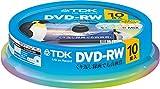 TDK 録画用DVD-RW デジタル放送録画対応(CPRM) 1-2倍速 5色カラーミックスディスク 10枚スピンドル DRW120DMA10PUE