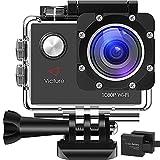 Victure アクションカメラ WIFI 1200万画素1080P フルHD 2個電池 2インチ画面 170度広角 30M防水 複数部品