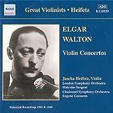 エルガー/ウォルトン:ヴァイオリン協奏曲(ハイフェッツ)(1941, 1949)