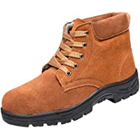 yotijar Steel Toe Cap Midsole Safety Work Boots Shoes, Anti-slip Breathable, Durable - US10 EU44 UK9.5