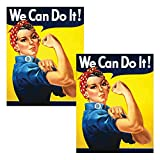 We Can Do It 。 – Feminist ww2 Rosie the Riveterレトロヴィンテージ車デカール – 車ウィンドウステッカー – プレミアム品質ビニール – 耐久性&防水 – byレトロKid 2 725873682275
