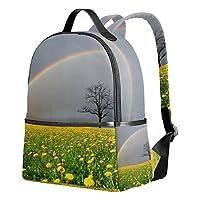 7ee4f7757b3d VAWA リュックサック 高校生 女子 大容量 虹柄 花柄 木柄 ツリー きれい リュック