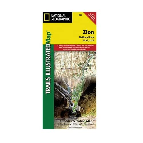 サワロ国立公園ナショナルジオグラフィックTI00000237地図 - アリゾナ州