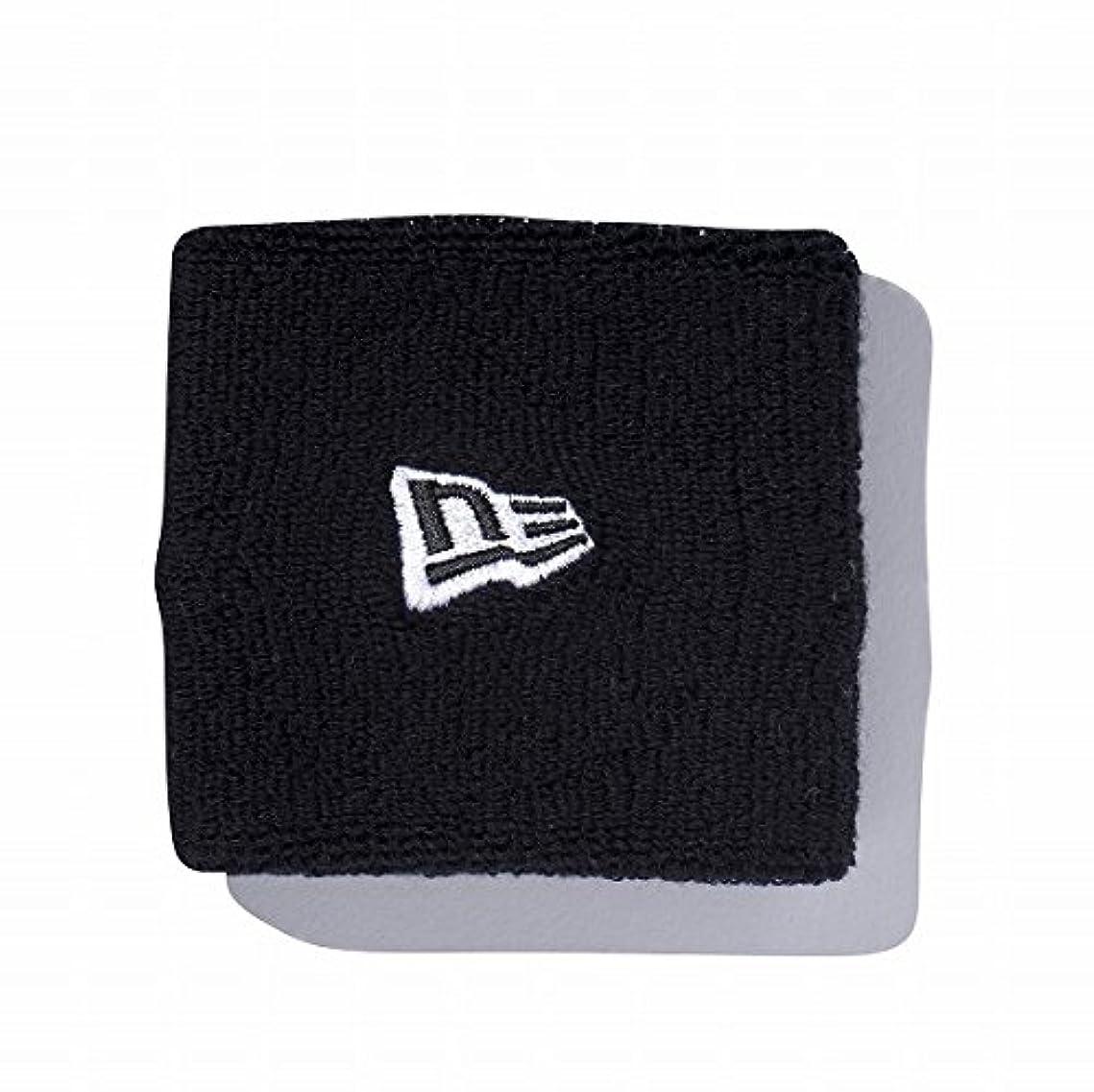 蒸留バス施しニューエラ (NEWERA) リストバンド ブラック × ホワイト スケートボード 刺繍