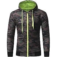Men Tracksuits,Mens Long Sleeve Camouflage Splicing Hooded Sweatshirt Blouse