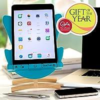 Thinking Gifts スマホ・タブレット・ブックスタンド ホルダー エッグチェア/eggchair・デザイン 角度調節可能 英国ギフトオブザイヤー2015受賞 iPhone iPad iPod Galaxy Nexus 等 (ブルー)