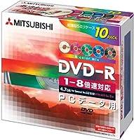 三菱化学 1~8倍速対応 DVD-R 超薄型5mmスリムケース(透明) 10Pカラーディスク DHR47HM10