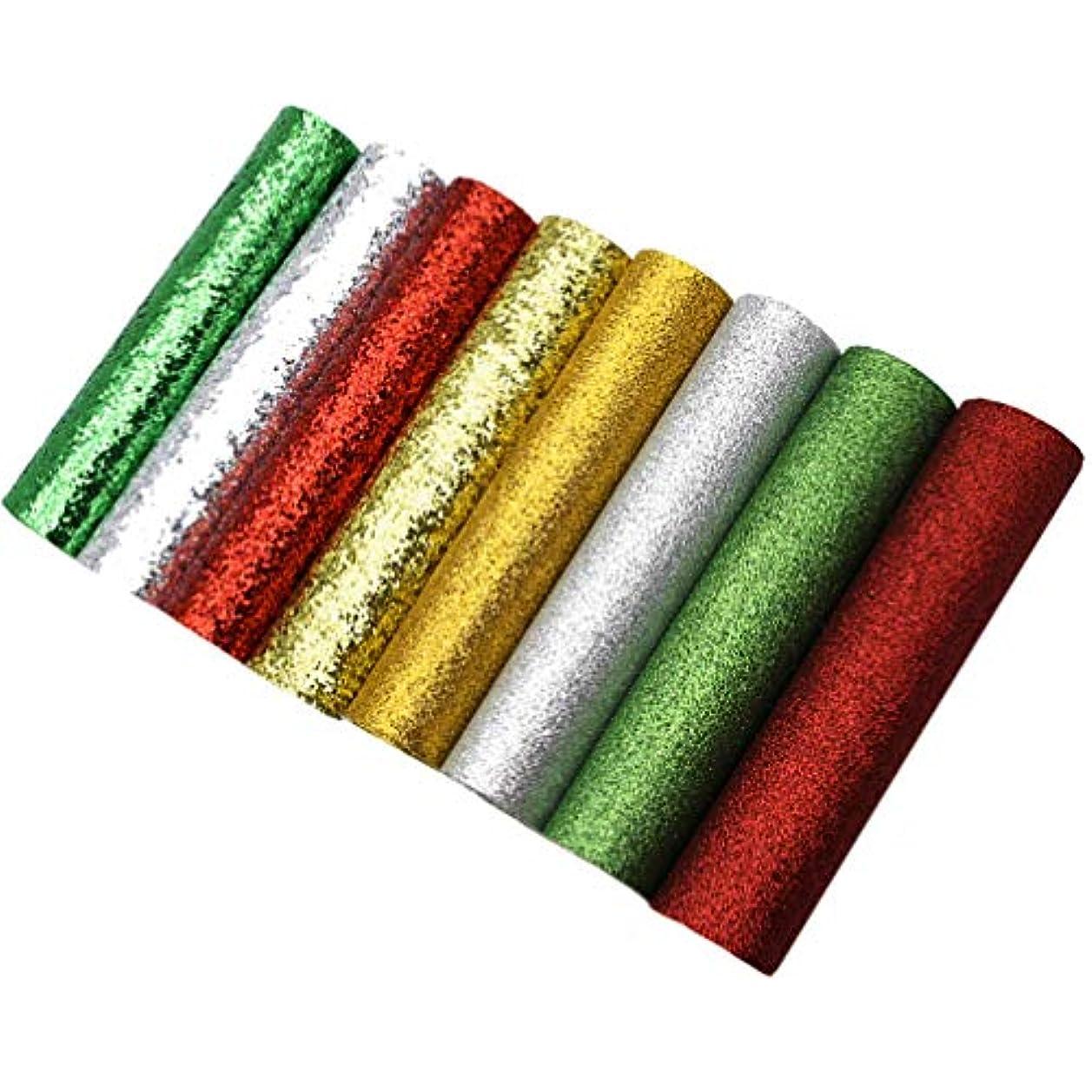 キャベツボルト前述のrosenice 8本キラキラクリスマスフェイクレザーシート20x34cmメリークリスマスdiy合成皮革生地クリスマスクラフトジュエリー作りアクセサリー