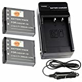 DSTE® アクセサリーキット Casio NP-130 互換 カメラ バッテリー 2個+充電器キット 対応機種 EX-ZR850 ZR1000 ZR1200 EX-ZS1500 EX-100 EX-ZR400 ZR500 ZR510 画像