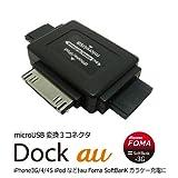 No brand 3コネクタ充電アダプタ microUSB から変換アダプタ au / FOMA softbank / iPhone
