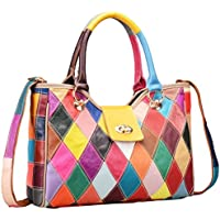 Heshe Womens Multi-color Shoulder Bag Hobo Tote Handbag Cross Body Purse