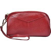 Yeeasy Women's Leather Wallet Clutch Handbag Ladies Zip Coin Purse with Wristlet