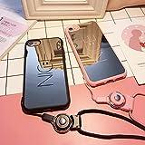 ニコちゃん ネットストラップ 鏡 nice ピンク ブラック アイフォン ケース カバー スマホ ケース mirror smile ソフト iPhoneケース ナイス ミラー スマイル スマイリー For iPhone7 iPhone7Plus iPhone6/6s iPhone6Plus/6sPlus用 (iPhone6/6s, ピンク)