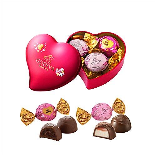 ゴディバ (GODIVA) ラッピングチョコレート ミニハート缶 5粒
