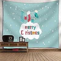 壁のタペストリー クリスマスイブクリスマスツリーの装飾ウォールアートのタペストリー壁アートセットのタペストリーをぶら下げ インドのヒッピーのタペストリー (色 : A13, サイズ : 150*130cm)