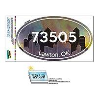 73505 ロートン, [OK] - シティ - 楕円形郵便番号ステッカー