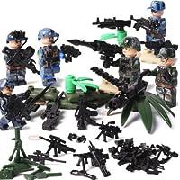 陸軍、海兵隊、特殊部隊武器防具付き特殊迷彩6体 化粧箱入り
