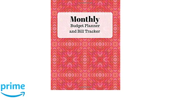 amazon monthly budget planner and bill tracker with calendar 2018
