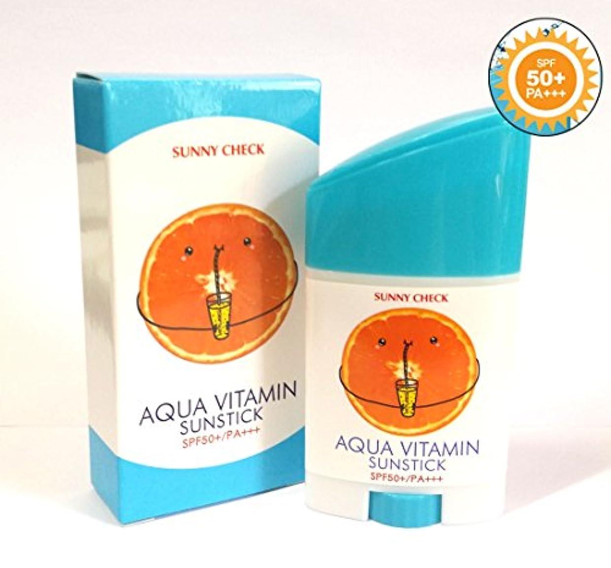 推論入場料良心[Sunny Check] アクアビタミンサンスティックSPF50 + PA +++ 26g(0.9oz)/UVプロテクション/韓国化粧品/Aqua Vitamin Sun Stick SPF50+ PA+++ 26g(...
