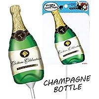 フォトプロップス用手持ちスティックバルーン シャンパンボトル