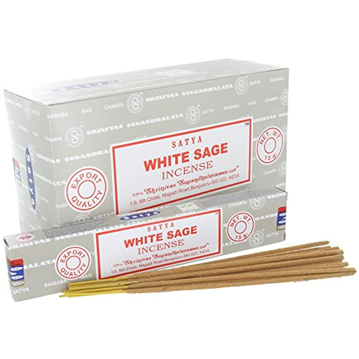 タイヤ薄める無謀Satya White Sage Incense Sticks (Box) 15g X 12 = 180g