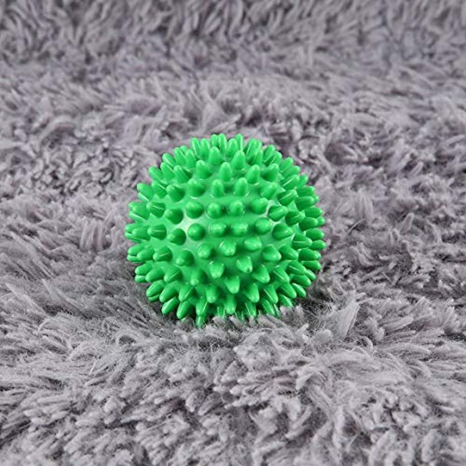 嫌な回る日食PVC High Density Spiky Massage Ball Foot Pain & Plantar Fasciitis Reliever Treatment Hedgehog Ball Massage Acupressure...
