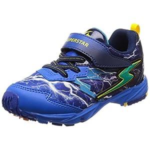 [スーパースター] 運動靴 通学履き 軽量 マジック ゆったり 2E キッズ SS K857