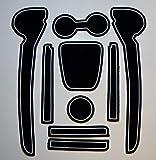 KINMEI(キンメイ) VW Polo ポロ 白 フォルクスワーゲン 車種専用設計 インテリア ドアポケットマット ドリンクホルダー 滑り止め ノンスリップ 収納スペース保護 ゴムマット 新車 VIIv-p03