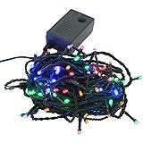 【ミックス】イルミネーションLEDライト クリスマスライト 100球 点灯パターン記憶メモリー付 防雨仕様 連結可 8パターン点灯?コントローラ付