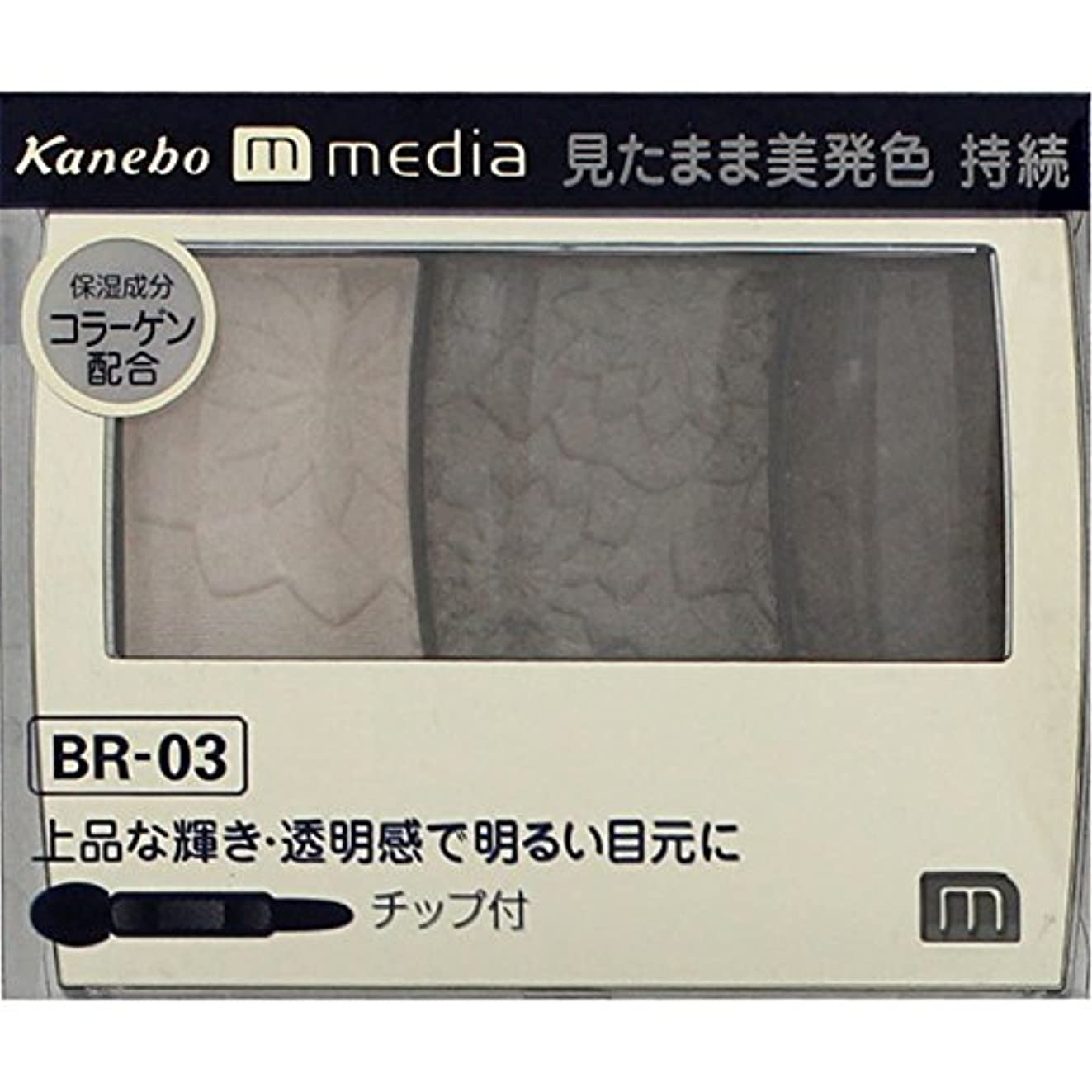 動的見物人ランドマーク【カネボウ】 メディア グラデカラーアイシャドウ BR-03