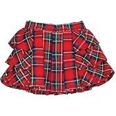 サイドフリルミニスカート 赤タータン