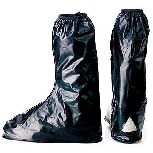 【ノーブランド品】 靴を履いたまま履ける!! レインブーツ 靴 ブーツ シューズ防水 バイク雨具 コ...
