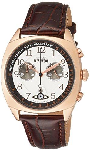 ヴィヴィアンウエストウッド 腕時計 HAMPSTEAD ホワイト文字盤 ブラウン革 クロノグラフ