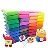 Szsrcywd 36 PCS Colourful Kids Modelling Soft Clay Air Dry Clay Studio Toy 36 Bright Colour No-Toxic Modelling Clay Creative