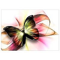 YOUn 6602 40 * 30cm かわいい蝶 ダイヤモンド塗装 リビングルーム DIYダイヤモンド ラウンドダイヤモンドクロスステッチキット