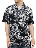 (ルーシャット) ROUSHATTE アロハシャツ 半袖 大きいサイズ シャツ レーヨン ハイビスカス 10color 3L 柄2