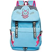 DVA Canvas Backpack Vintage Anime Casual Bookbag Bunny School Bag Daypack