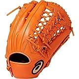 asics(アシックス) 軟式 野球用 グローブ 外野手用 (左投げ用) 一般用 DIVE サイズ11 2019年モデル 3121A136 オレンジ RH(左投げ用)